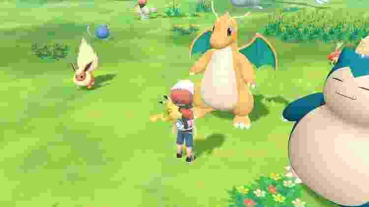 Quase não existem Pokémon do tipo dragão na primeira geração. O Dragonite reina absoluto. - Reprodução