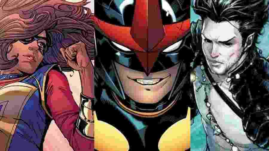 Ms. Marvel, Nova e Namor, personagens da Marvel - Reprodução