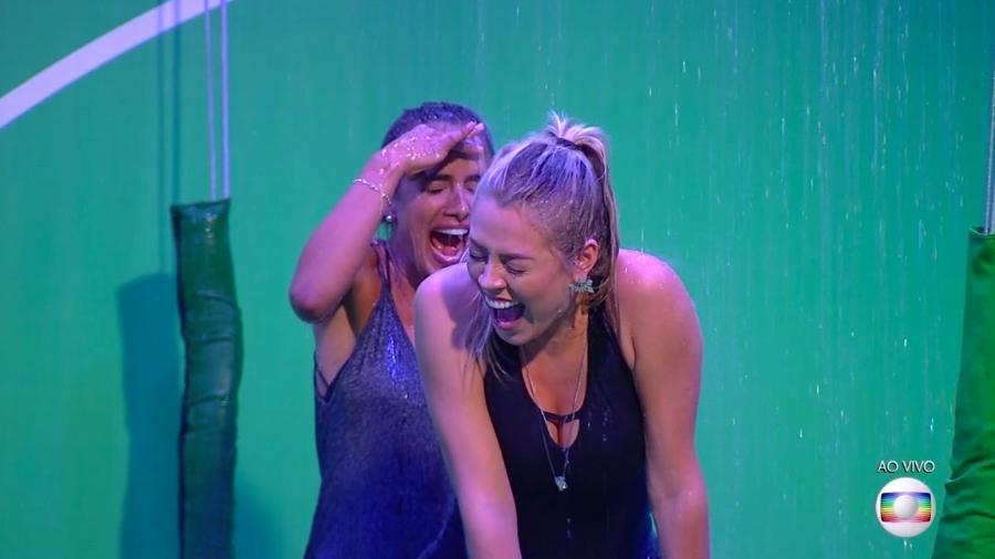 Carolina e Isabella participam da prova do líder  - Reprodução/TvGlobo