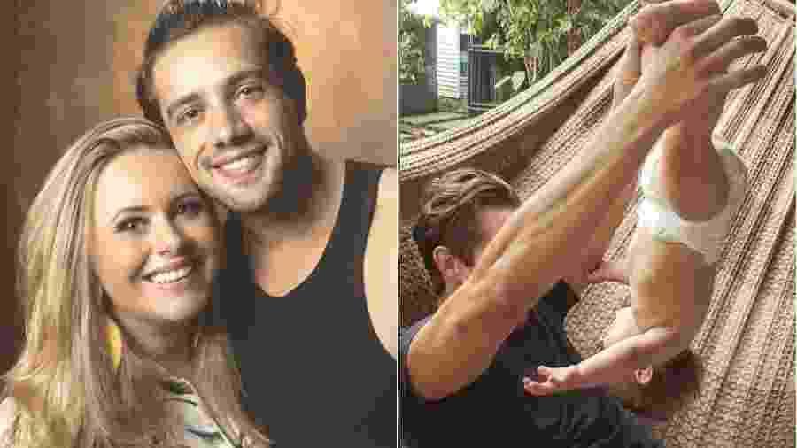 Mariana Bridi, mulher de Rafael Cardoso, não gostou da brincadeira do ator com o filho caçula - Reprodução/Instagram