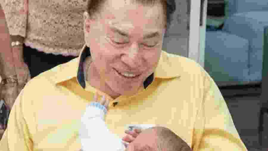 Silvio Santos e o neto, Senor - Reprodução/Instagram