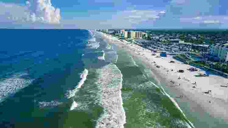 Vista aérea da praia New Smyrna, Florida - Getty Images/iStockphoto