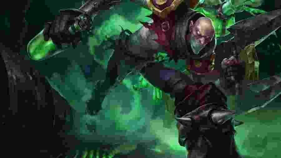 O personagem Singed, de League of Legends: tóxico, mas só na fantasia do jogo - Divulgação
