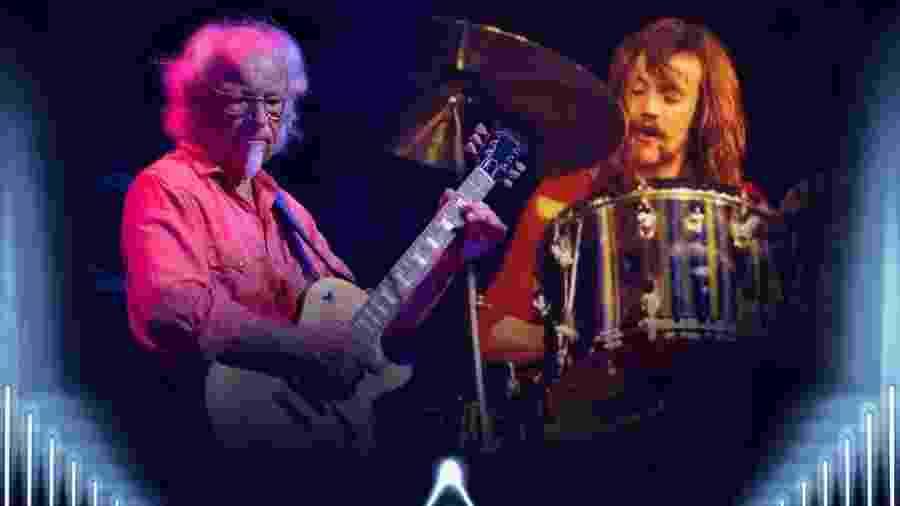 O guitarrista Martin Barre e o baterista Barriemore Barlow comandam as apresentações - Divulgação
