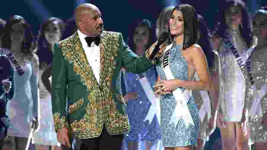 Brasileira Júlia Horta chega ao top 20 do Miss Universo, mas não avança às finais - Paras Griffin/Getty Images