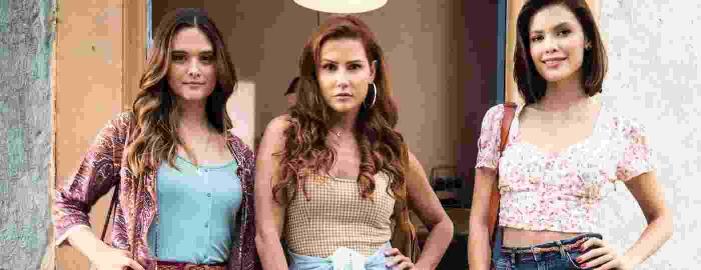 Luna/Fiona (Juliana Paiva), Alexia/Josimara (Deborah Secco) e Kyra/Cleyde (Vitória Strada), protagonistas de Salve-se Quem Puder - Divulgação/Globo