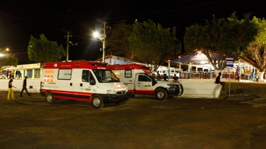 Vítima alega ter sido tocada por paramédico após passar mal em partida de futebol - Prefeitura de Barreiras/Reprodução