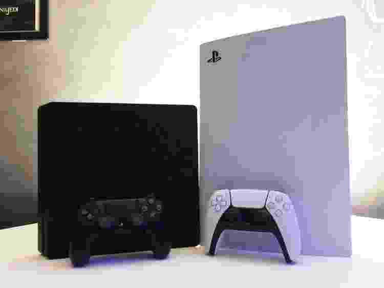 Comparação PS5 PlayStation 5 x PS4 PlayStation 4 - Vinicius Amado/UOL - Vinicius Amado/UOL