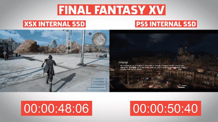 tempo de carregamento PS5 e XSX - Reprodução / YouTube (GameSpot) - Reprodução / YouTube (GameSpot)