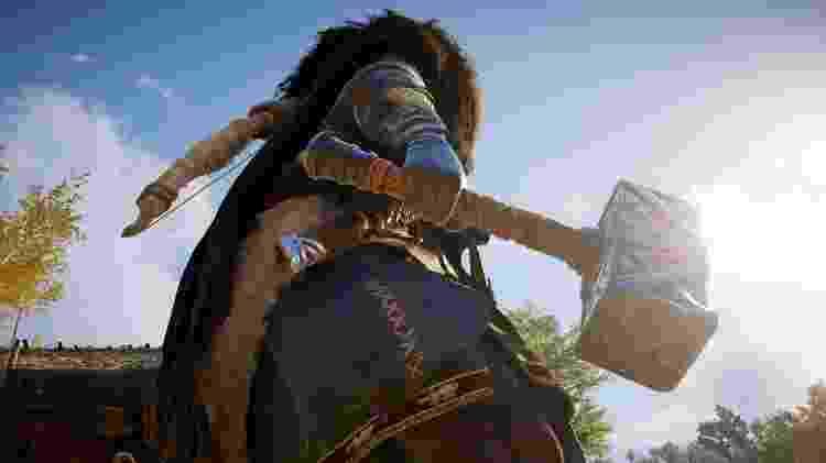 Assassin's Creed Valhalla arma - Reprodução/START - Reprodução/START