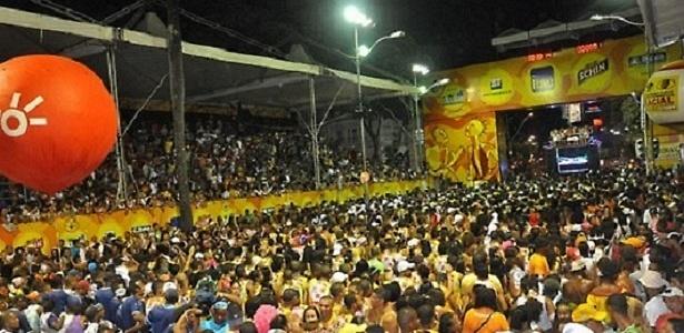 Imagem do tradicional Circuito Osmar, no centro de Salvador