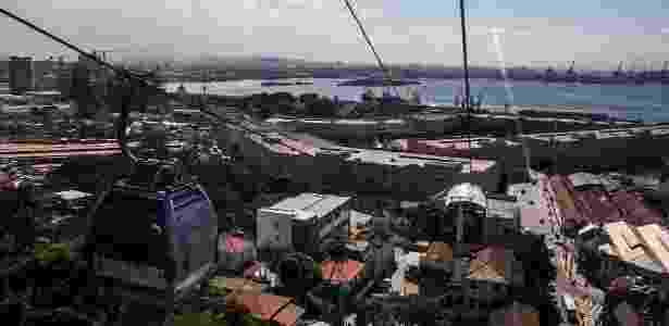 """Vista do morro da Providência, na exposição """"Favela tem Memória"""" - Divulgação/ONG Viva Rio - Divulgação/ONG Viva Rio"""