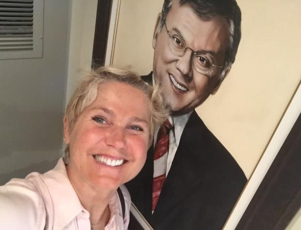 Xuxa no apartamento de Milton Neves em Nova York - Arquivo pessoal