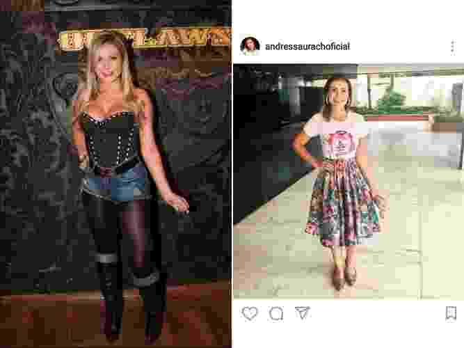 Andressa Urach, antes e depois - AgNews e Reprodução/Instagram/@andressaurachoficial