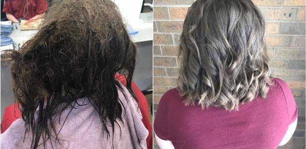 Em depressão, adolescente pediu para raspar todo o cabelo emaranhado, mas a cabeleireira cuidou dele