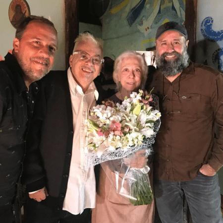 Felipe Binder, Walcyr Carrasco, Fernanda Montenegro e Mauro Mendonça Filho - Reprodução/Instagram/walcyrcarrasco
