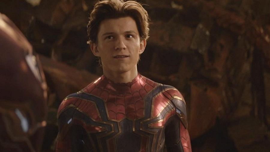 """Tom Holland é o Homem-Aranha em """"Vingadores: Guerra Infinita"""" - Reprodução"""