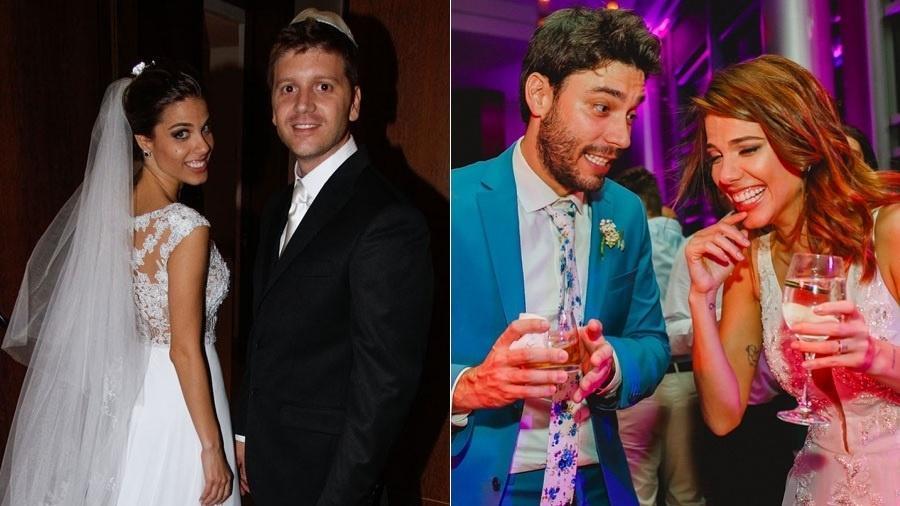 Marcela Maluf com Daniel Zukerman, em 2012, e com Marco Fenili, em 2018 - Montagem/UOL/AgNews/Reprodução/Instagram/mamamaluf