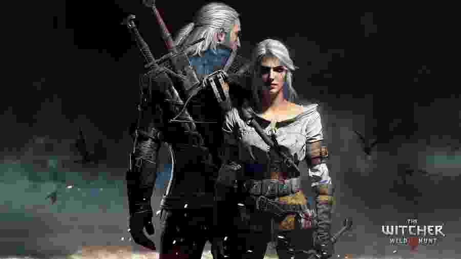 """Geralt e Ciri no game """"The Witcher 3: Wild Hunt"""" - Reprodução"""