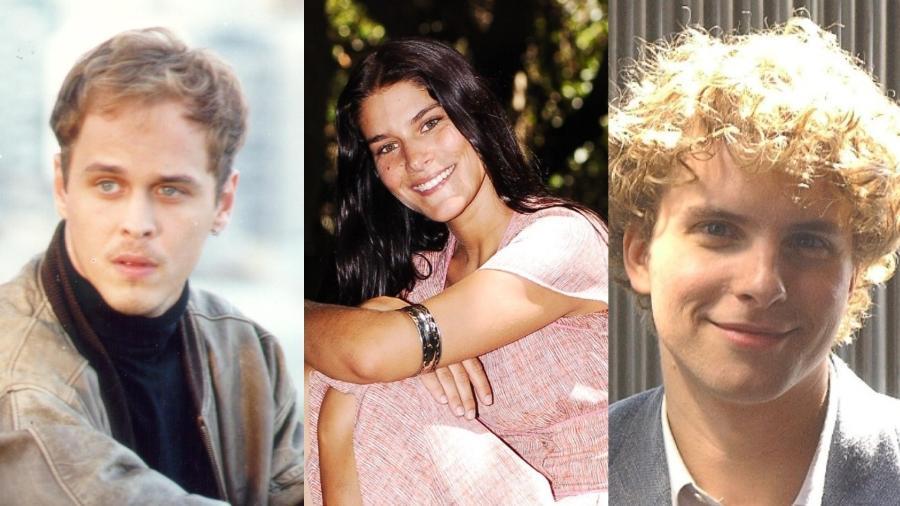 """Alexandre, de """"A Viagem"""", Serena, de """"Alma Gêmea"""" e Marcos em """"O Profeta"""" - Colagem/UOL"""