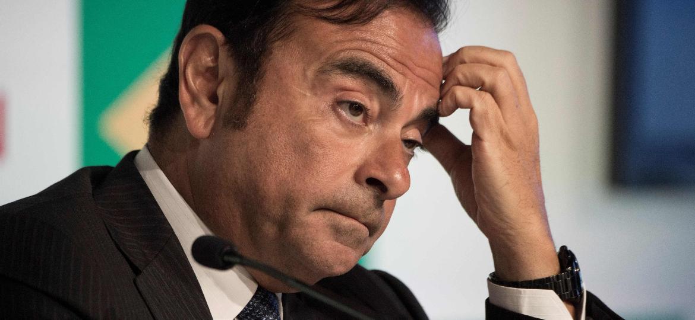 Carlos Ghosn: desenrolar do caso será observado pelo governo francês, que detém 15% do controle da Renault - Vanderlei Almeida/AFP