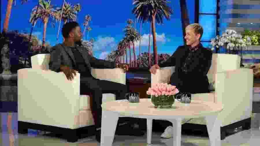 Kevin Hart é entrevistado por Ellen DeGeneres - Divulgação