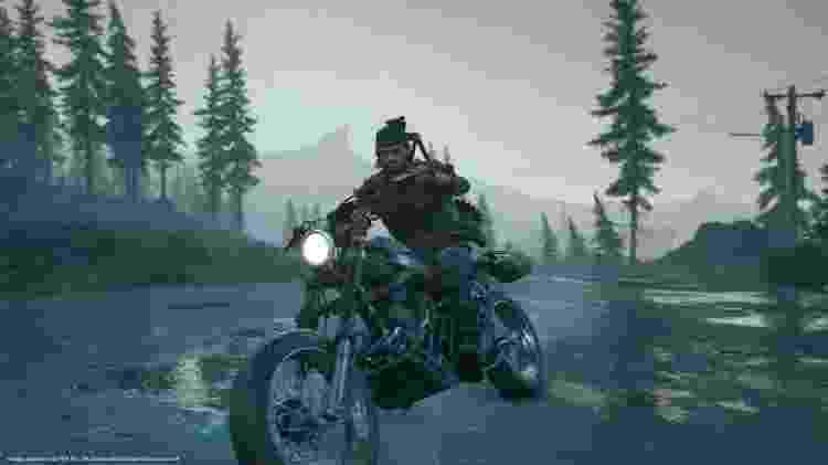 Uma vida em duas rodas: a moto de Deacon pode ser aprimorada para estocar munição e suprimentos - Divulgação