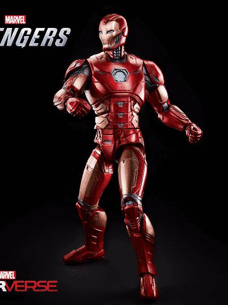 A versão action figures do Homem de Ferro da Hasbro Marvel Legends 6 - Divulgação