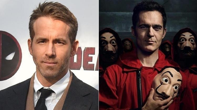 Netflix confirmou as presenças de Ryan Reynolds e alguns atores de La Casa de Papel - AFP / Divulgação - Montagem UOL