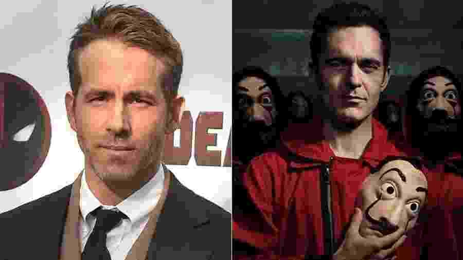 Netflix confirmou as presenças de Ryan Reynolds e alguns atores de La Casa de Papel em São Paulo - AFP / Divulgação - Montagem UOL