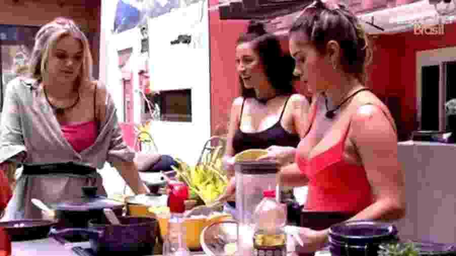Gizelly fala do arroz de Babu - Reprodução/Globoplay