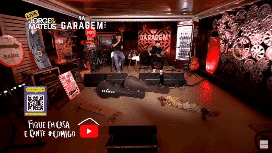 Live de Jorge e Mateus - Reprodução/YouTube