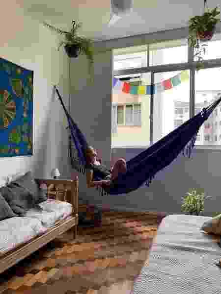 Babi Cady fez questão de incluir redes na decoração do apartamento, no Rio - Camila Codazzi - Camila Codazzi