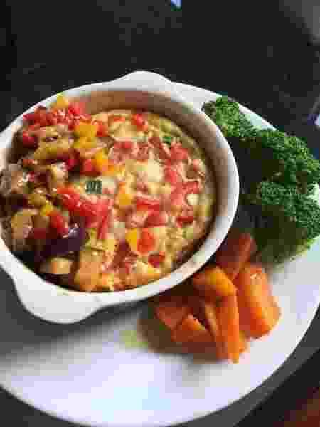 Omelete de forno com legumes, caponata de berinjela, brócolis e cenoura - Arquivo Pessoal - Arquivo Pessoal