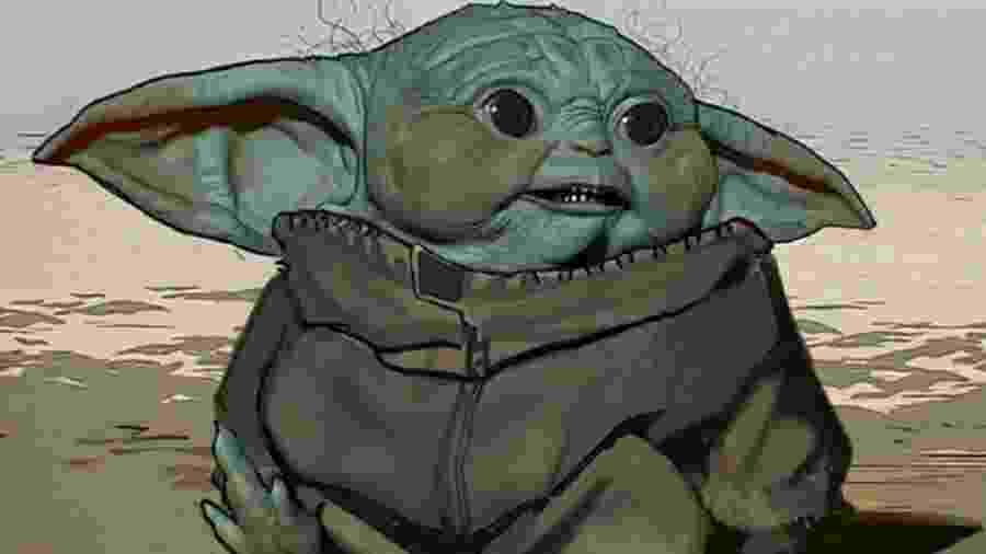 A nova imagem mostra que Baby Yoda poderia ter um visual bem diferente do atual - Reprodução