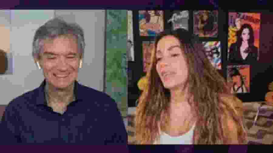 Serginho Groisman e Anitta - Reprodução