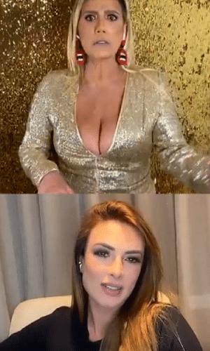 Rita Cadillac conversa com Nicole Bahls