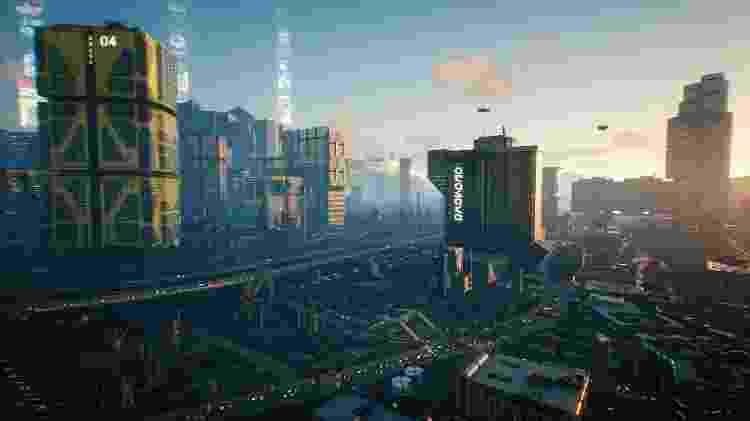 Game Cyberpunk cidade Night City - Divulgação/CD Projekt Red - Divulgação/CD Projekt Red