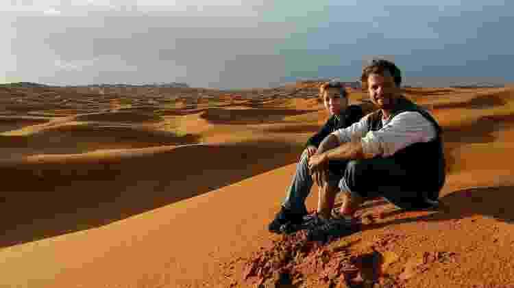 Michelle Weiss e Roy Rudnick, no Marrocos - Arquivo pessoal - Arquivo pessoal