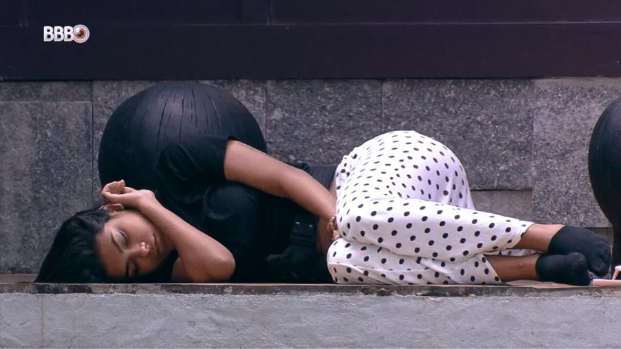 BBB 21: Pocah dorme afastada dos outros brothers - Reprodução/Globoplay