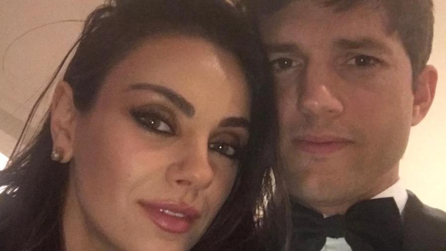 Mila Kunis e Ashton Kutcher - Instagram/@aplusk