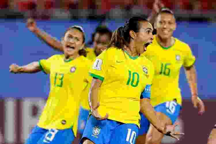 Copa do Mundo Feminina de 2019, na França, foi a primeira a ter todos os jogos transmitidos na TV aberta - Getty Images - Getty Images