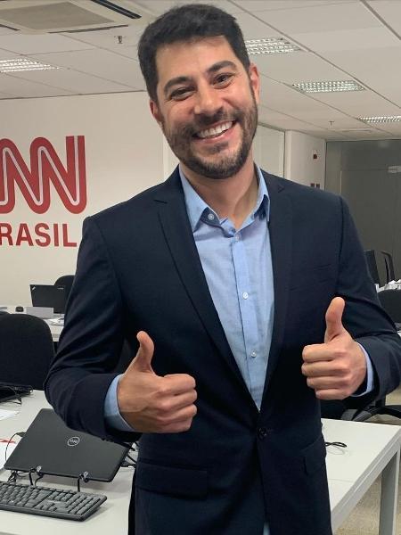 O apresentador Evaristo Costa disse que descobriu pela TV que seu programa teria sido excluído da programação da CNN  - Reprodução/Instagram
