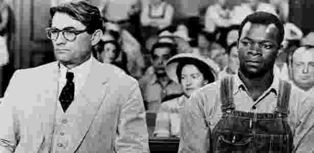 """Gregory Peck (Atticus Finch) e Brock Peters (Tom Robinson) em """"O Sol é Para Todos"""",  - Reprodução"""