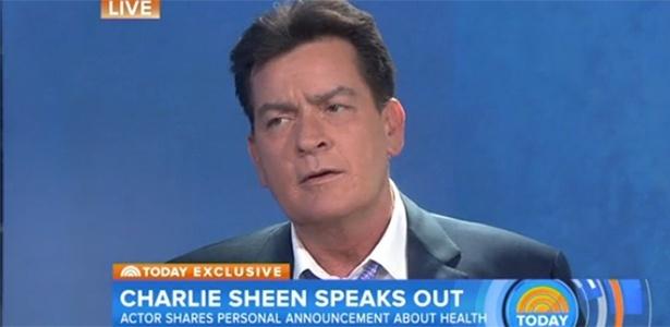Charlie Sheen revelou que foi diagnosticado há quatro anos