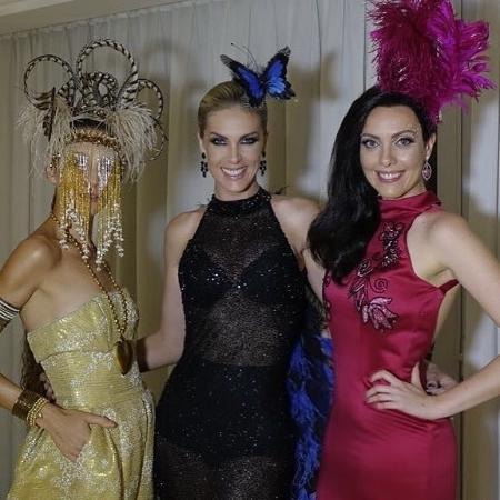 Ana Hickmann e as irmãs Fernanda e Isabel no Baile da Vogue - Instagram/Reprodução