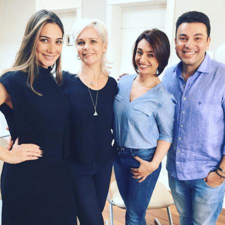 Cátia Fonseca mostra seu novo visual ao lado da equipe do salão do Jassa - Reprodução/Instagram/catiafonseca
