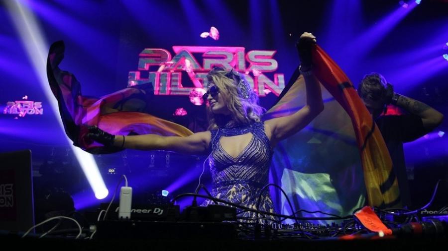 Paris Hilton se apresenta no Camarote Salvador - Deividi Correa/AgNews