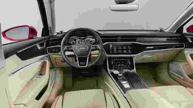 Novos A6 e A7 Sportback trazem cabine requintada, com duas telas táteis no console central e opção de sistemas de condução semiautônoma - Divulgação
