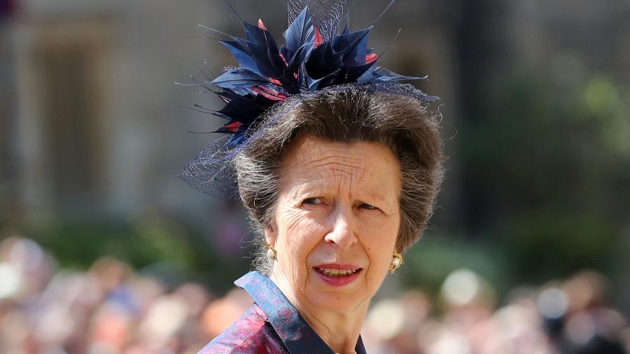 Princesa Anne durante o casamento do príncipe Harry e Meghan Markle, em maio de 2018  - Getty Images